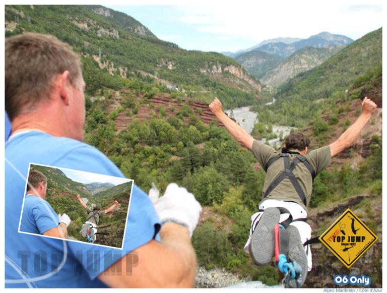 Le grand saut au Pont de la Mariée avec Top Jump